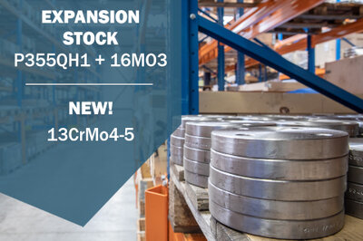 image Our stock P355QH1 + 16Mo3 has been replenished and expanded!